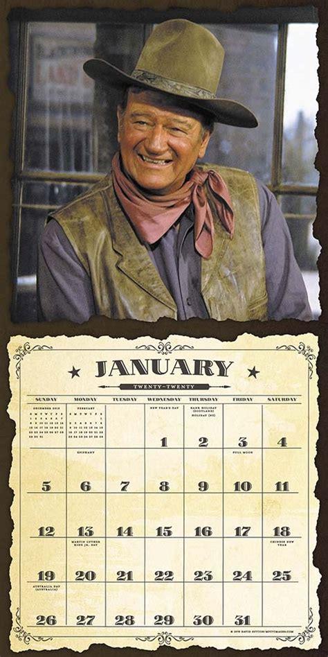 john wayne  wall calendar