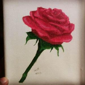 Rose Acrylic Painting | www.imgkid.com - The Image Kid Has It!