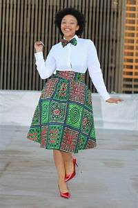 African print skirt with bow tie, african clothing, ankara ...