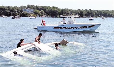Sinking Big Boats by Boat Sinks After Taking On Water Lake Geneva