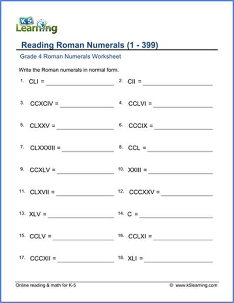2nd math grade 4 numerals worksheets free printable k5 learning