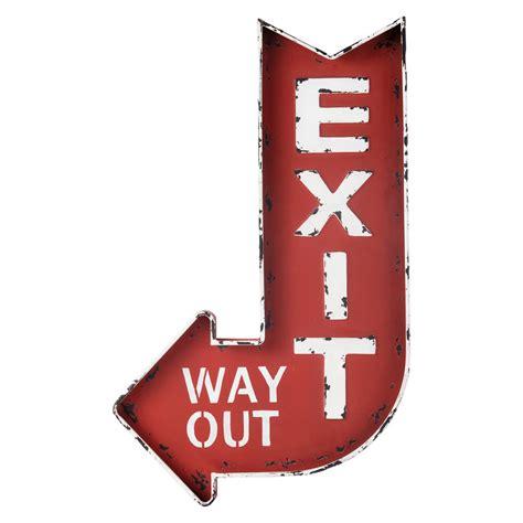 exit metal wall sign in h 81cm maisons du monde