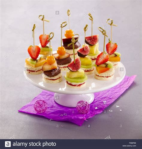 canapes fruit fruit canapes stock photo royalty free image 92040208