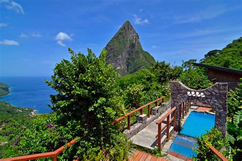 ladera st lucia resort  romantic paradise
