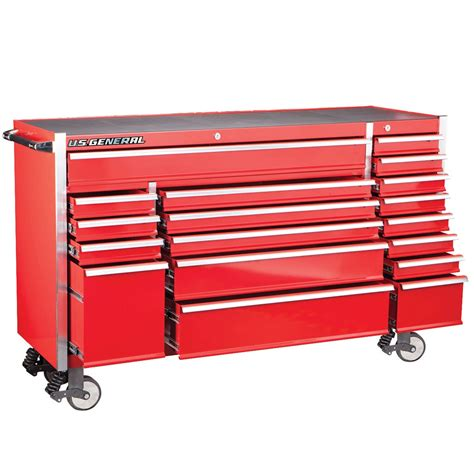 roller cabinet tool box 72 in 18 drawer glossy red industrial roller cabinet