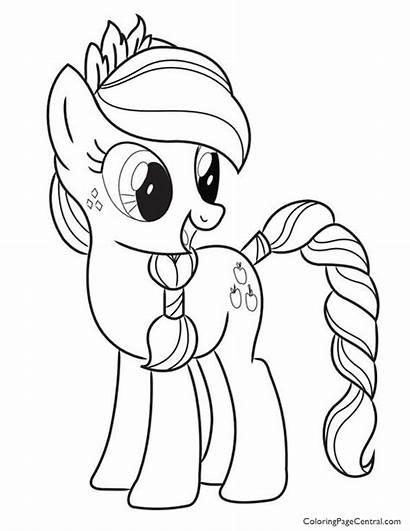 Coloring Pony Applejack Template Coloringpagecentral