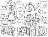 Coloring Wedding Pages Doodle Alley Married Colouring Sheets Adult Reception Table sketch template