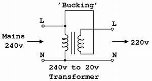 Bucking Transformer Diy  Drop 240v To 220v