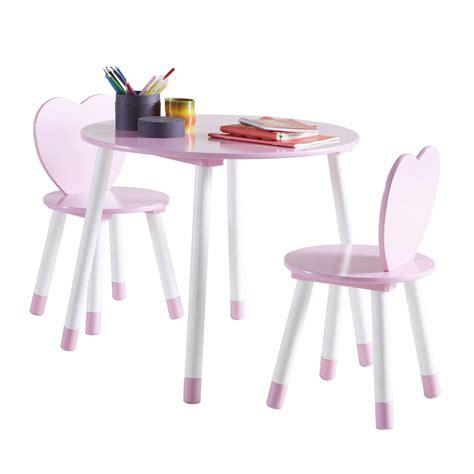 table et chaises enfants les tendances table et 2 chaises en bois blanc et princess