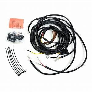 kc uniserial wiring harness for 2 cyclone led lights With led wiring harness