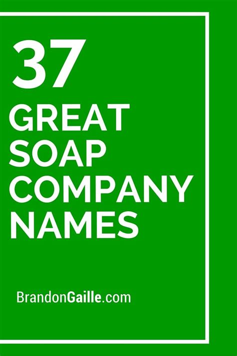great soap company names catchy slogans soap
