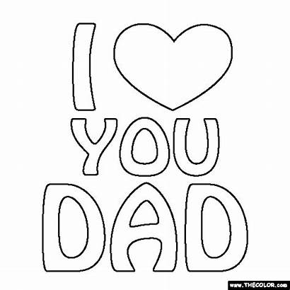 Dad Coloring Pages Words Mom Thecolor Printable
