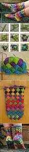 Wonderful DIY Lovely Rainbow Patch Knitted Socks ...