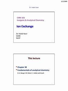 Ch 101   Ac3   Ion Exchange