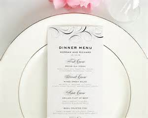 wedding menus luxe flourish wedding menus wedding menus by shine