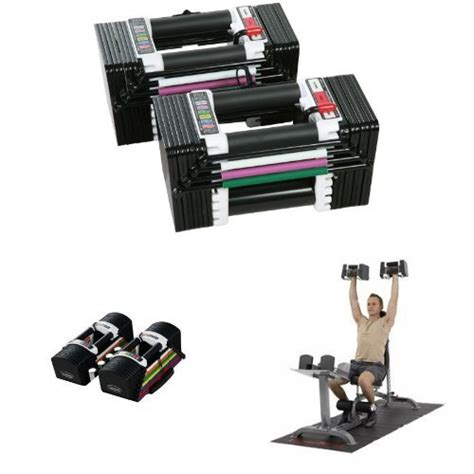 powerblock 24 lb adjustable dumbbell set amazonbasics 20 pound dumbbell set with stand silver 9168
