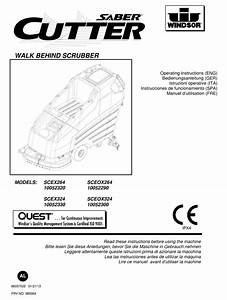 Windsor Saber Cutter Scex264 Operator Instructions Manual