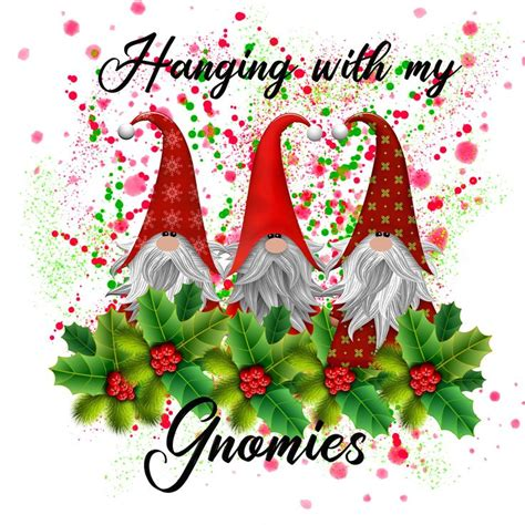 Totally free christmas design resources to help create the perfect holiday including clip art, backgrounds, fonts, borders, images and more. Gnomes sublimation png file Christmas gnomes instant ...