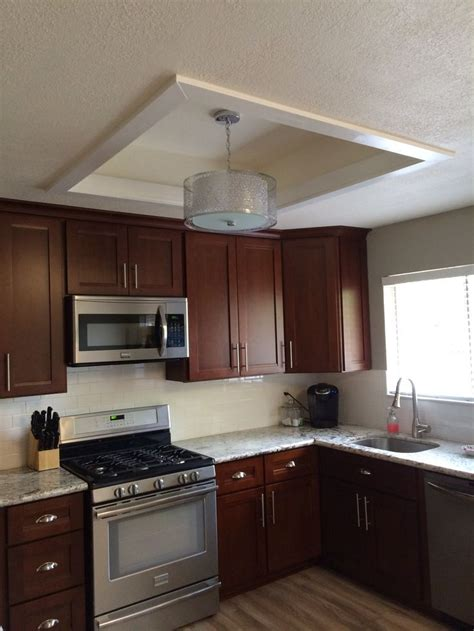 Why fluorescent light boxes were ever a thing i'll never know. remodel flourescent light box in kitchen - Bing images   Kitchen ceiling lights, Kitchen ...