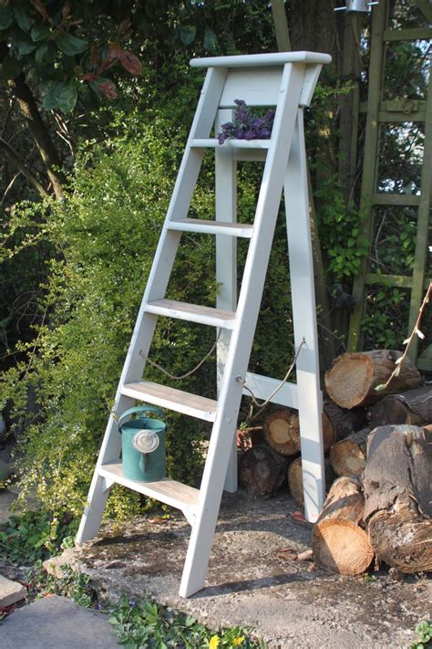 Lovely Hand Painted Wooden Ladder Products Pinterest