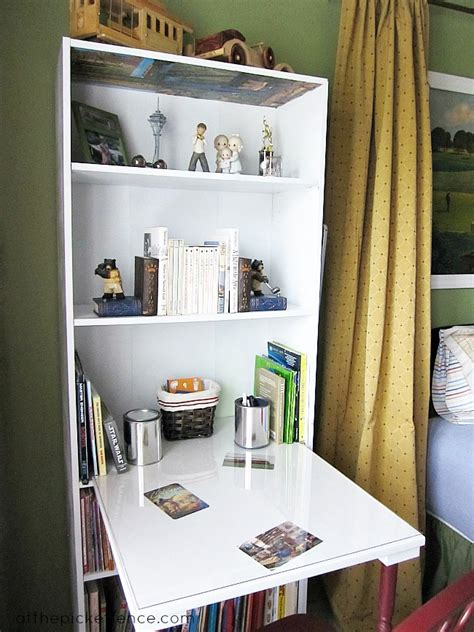 desk with bookcase attached save on space by turning a bookcase into a desk here 39 s