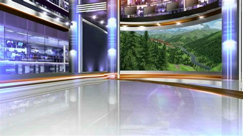 awesome virtual studio set talkshow tv studio background