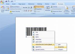 Barcodes in word for Barcode label template word