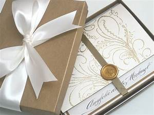 exclusive wedding invitations rectangle brown box With box wedding invitations australia