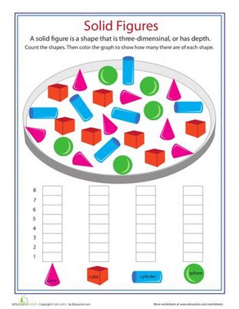 shape dimensions solid figures worksheet education