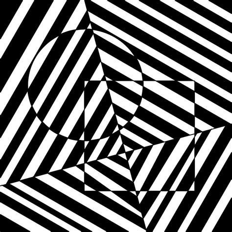 circle  square optical illusion drawing  casino artist