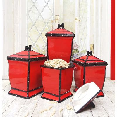 Buy kitchen canister sets and get the best deals at the lowest prices on ebay! Kitchen Canister Sets in Red Color - HomesFeed