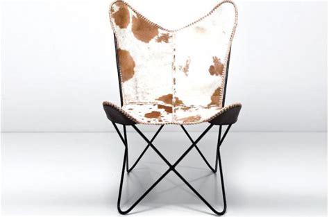 fauteuil transat peau de vache clarabelle fauteuil