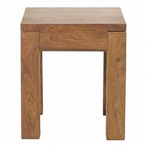 Bout De Canapé : bout de canap en bois de sheesham massif l 40 cm ~ Voncanada.com Idées de Décoration