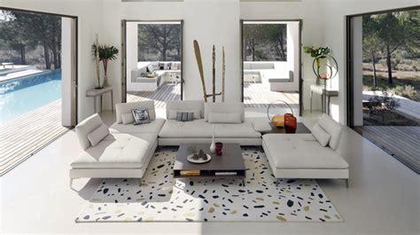 canapé cuir blanc roche bobois scenario 3 seat sofa large roche bobois