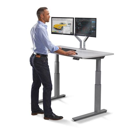 stand up computer stand for desk standing workstation electric adjustable height desk