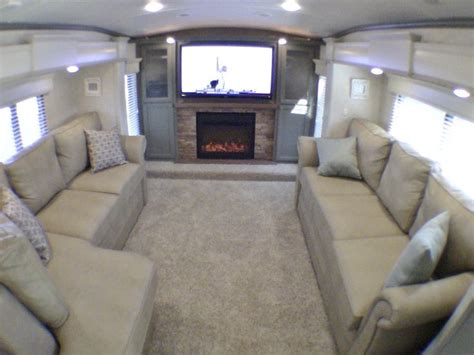 luxury fifth wheel rv front living room 2014 drv tradition 390 luxury front living room 5th wheel
