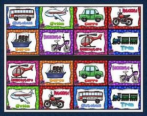 Maravilloso memorama de los medios de transporte Material Primaria