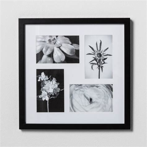 thin black picture frames thin black collage frame holds four 4 quot x6 quot photos room 6096