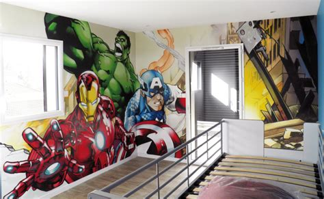 chambre marvel decoration chambre heros