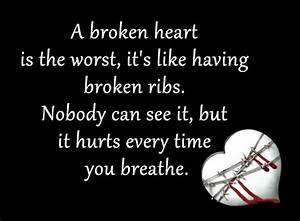 Broken Heart Qu... Injured Heart Quotes