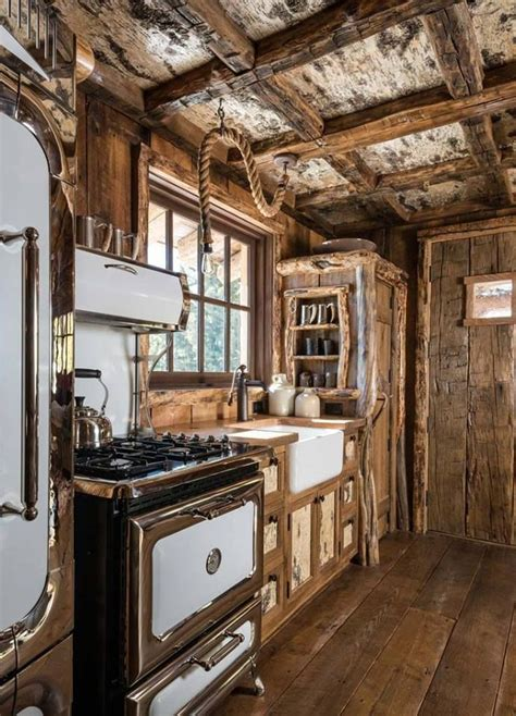 rustic cabin kitchen ideas small rustic cabin kitchens imgkid com the image