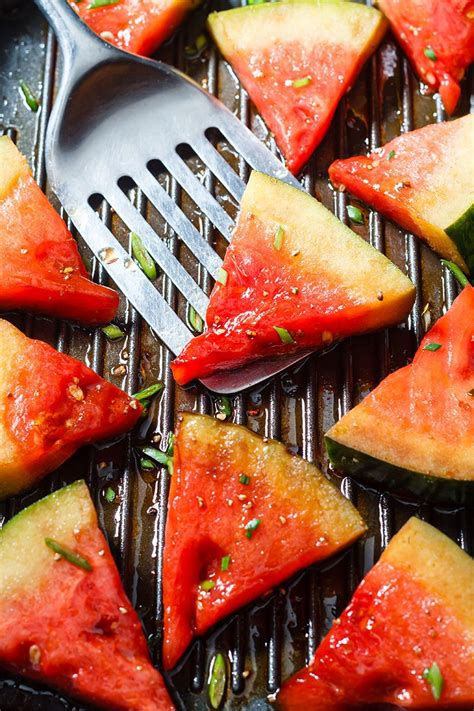 grilled watermelon recipe  honey balsamic glaze