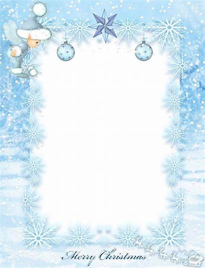 Winter Border Transparent Frame Clipart Ice Webstockreview