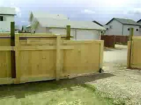 How To Build A Boat Gate by How To Make A Rolling Wooden Driveway Gate