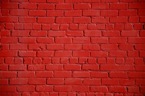 Pics For > Red Painted Brick Wall