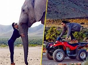 Stars Sur Un Quad : photos rihanna elle joue les acrobates sur son quad et met les gaz pour une journ e safari ~ Medecine-chirurgie-esthetiques.com Avis de Voitures