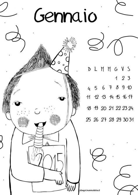 il disegno per i bambini calendario perpetuo da colorare per bambini disegni