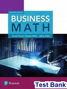 Business Math 11th Edition Cleaves Test Bank