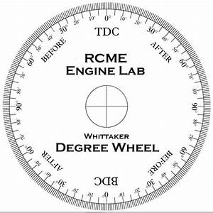 The Engine Lab two-stroke degree wheel - More Features