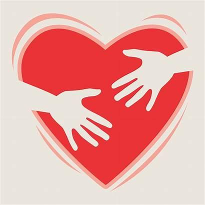 Heart Hands Vector Holding Kind Kindness Words